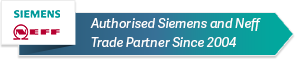 Authorised siemens and neff trade partner since 2004